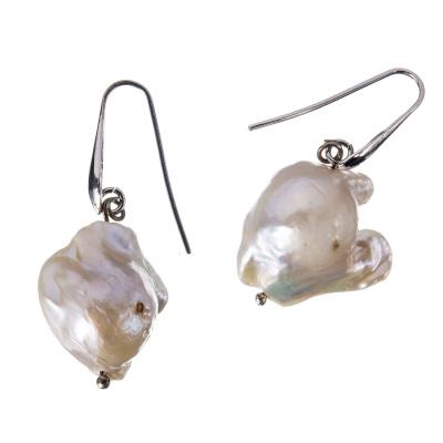 Orecchini Pendenti di Perle barocche ed Argento 925