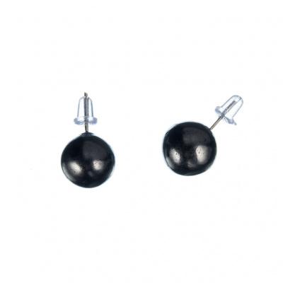 Orecchini di Shungite sfera 10mm con perno