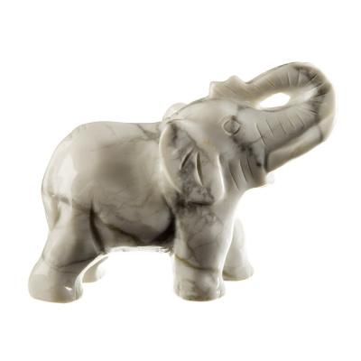 Elefante in Howlite Bianca