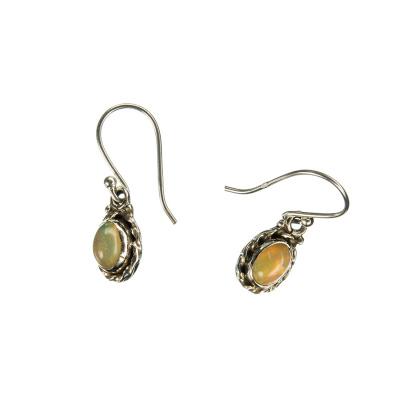Orecchini in Opale e Argento 925 pendenti