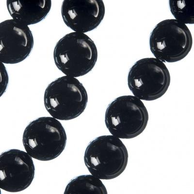 Ossidiana Nera - Filo di sfere lisce da 12mm