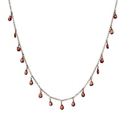 Collana di Granato e Argento 925 Rosa