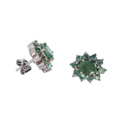 Orecchini in Smeraldi ed Argento
