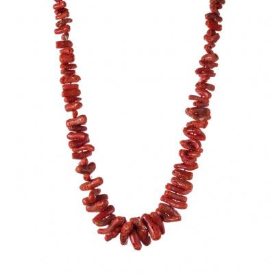 Collana di Corallo Rosso e Argento 925