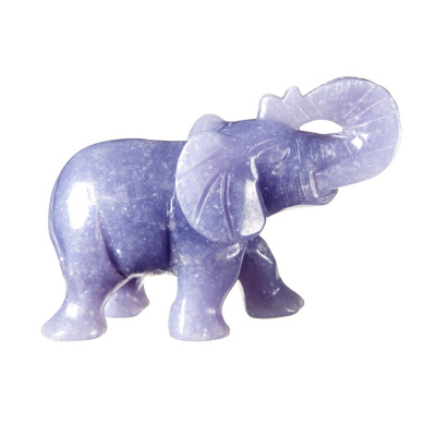 Elefante in Calcite Blu