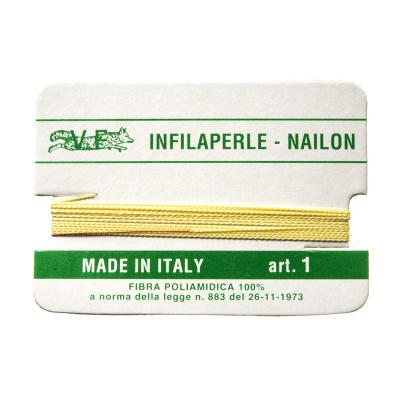 Filo Infilaperle in Nylon con ago - Giallo Chiaro - Diametro da 0.4 a 0.9 mm