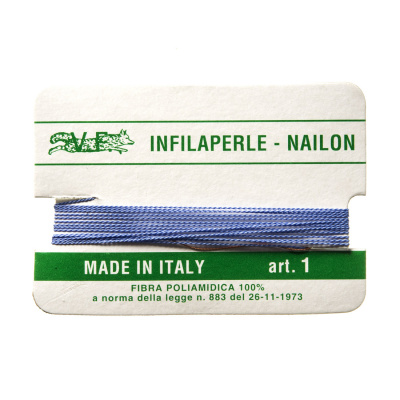 Filo Infilaperle in Nylon con ago - Lilla - Diametro da 0.4 a 0.9 mm