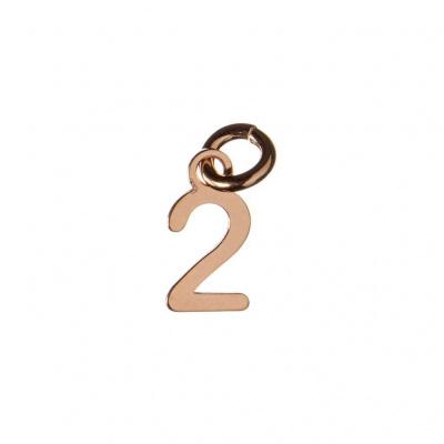 Ciondolo Numero Due in Argento 925 Rosa