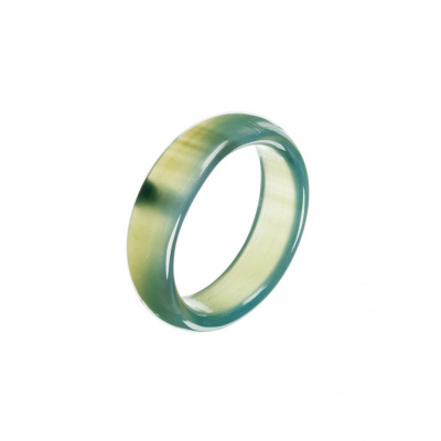 Anello All Stone in Agata Verde - Small