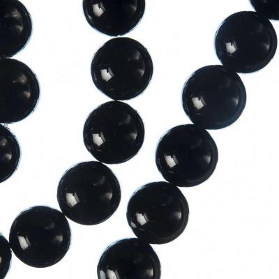 Onice Nera Grado A - Filo di sfere lisce da 12mm