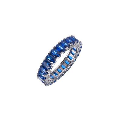 Anello di Zirconi Blu e Argento 925