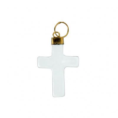 Ciondolo a croce di Cristallo di Rocca