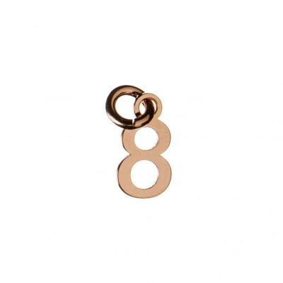 Ciondolo Numero Otto in Argento 925 Rosa