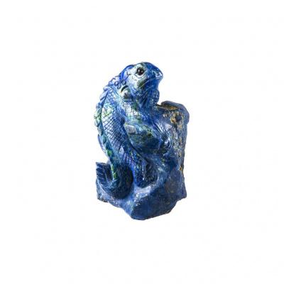 Iguana su roccia in Azzurrite