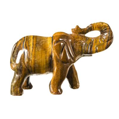 Elefante in Occhio di Tigre