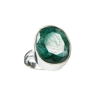 Anello Smeraldo ovale e Argento 925