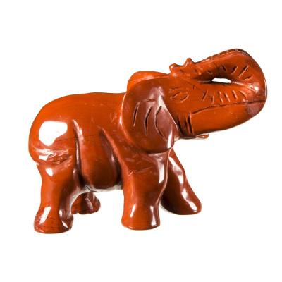 Elefante in Diaspro Rosso