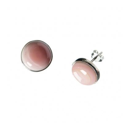 Orecchini di Opale Andino Rosa e Argento 925