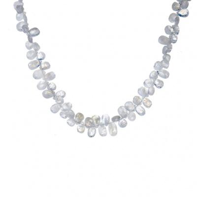 Collana di Labradorite Bianca e Argento 925