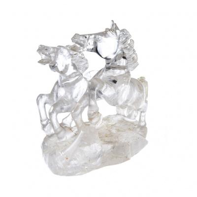 Cavalli in Cristallo di Rocca (Coppia)