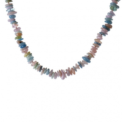 Collana Corta in Morganite e Acquamarina