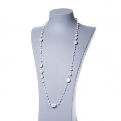 Collana lunga con Perle e Argento 925