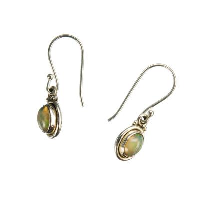 Orecchini di Opale e Argento 925 pendenti