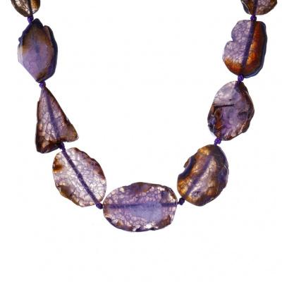 Collana di Agata Viola e Argento 925