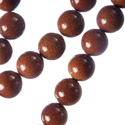Pietra di Sole (sintetica) - Filo di sfere lisce da 12mm