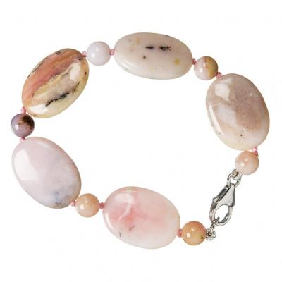 Bracciale Opale Andino Rosa e Argento 925