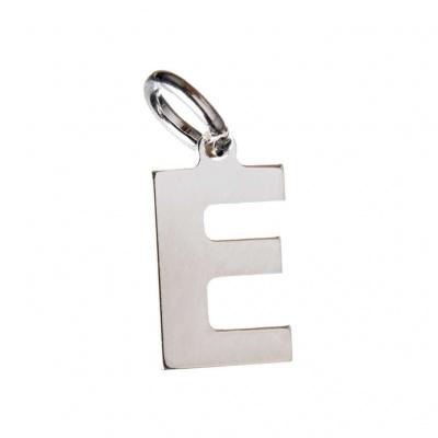 Pendente Lettera E in Argento 925 - 15 mm