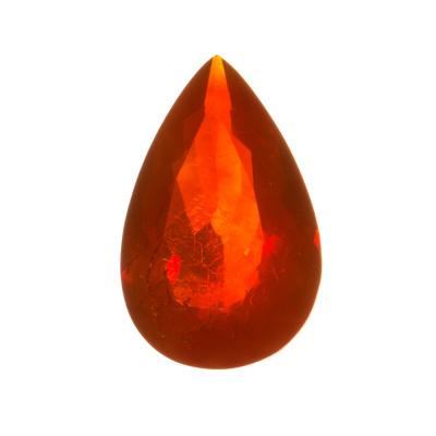 Gemma in Opale di Fuoco - Taglio Goccia. 15.49 carati - 2.45x1.5
