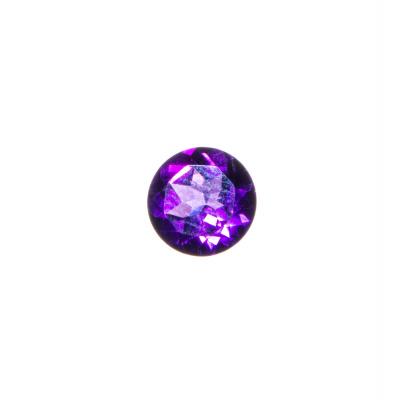 Gemma di Ametista Taglio Brillante - 2.47 carati - diametro 0.9 cm.