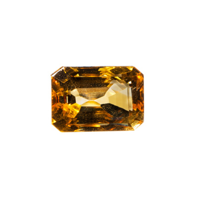 Gemma di Quarzo Citrino - 13.69 carati - Ottagonale 1.55x1.06
