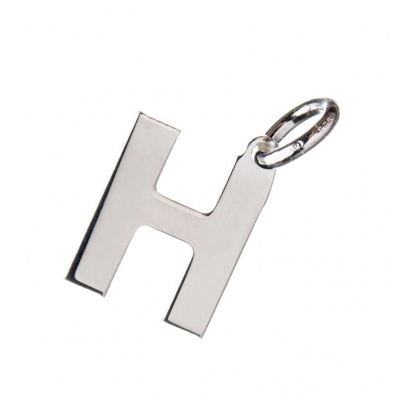 Pendente Lettera H in Argento 925 - 15 mm