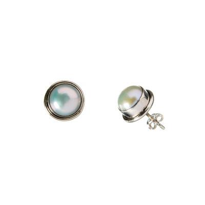 Orecchini tondi Perla e Argento 925