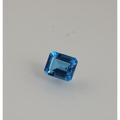 Gemma di Topazio Azzurro - Taglio a Gradini 0.8x0.97x0.66