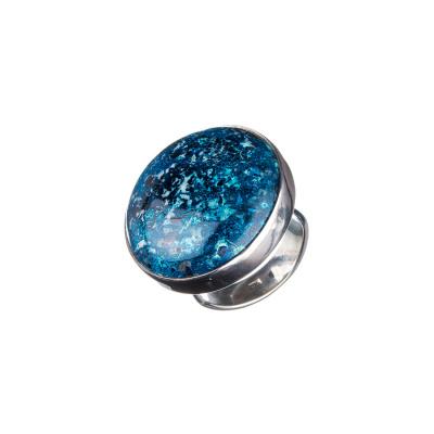 Anello di Azzurrite e Argento 925