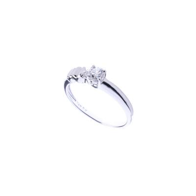 Anello Solitario in Oro bianco 18k con Diamante 0.31 ct.