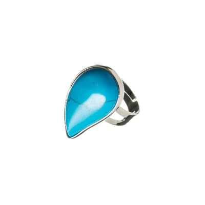 Anello in Ottone con cabochon in Pasta di Turchese