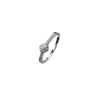 Anello in Oro bianco 18k con Diamanti 0.17 ct.