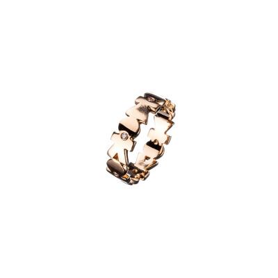 """Anello """"Her"""" in Oro 18k e Diamanti 0.05 ct."""