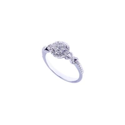 Anello in Oro bianco 18k con Diamanti 0.43 ct.