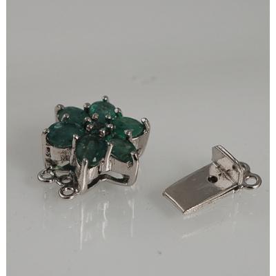 Chiusura in Smeraldi e Argento 925 Rodiato