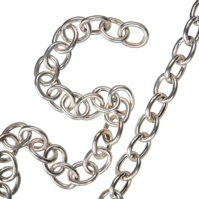 Catena in Argento 925 trama Oval Cross Chain - 50 cm