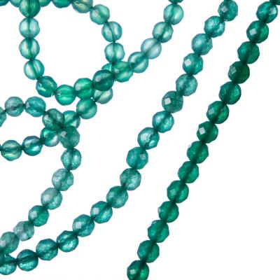 Agata Verde - Filo di sfere sfaccettate da 4mm