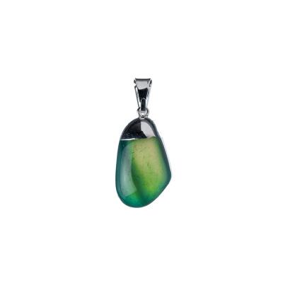 Ciondolo unisex in Agata Verde Levigata
