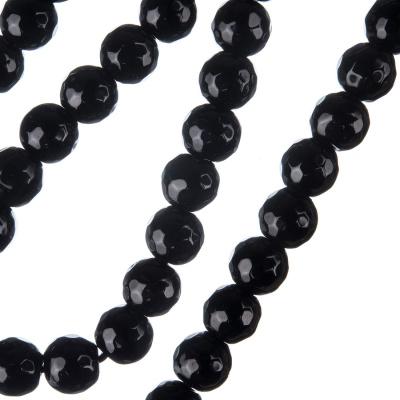 Ossidiana Nera - Filo di sfere sfaccettate da 8mm