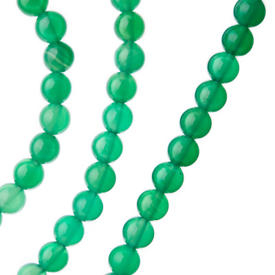 Agata Verde - sfera liscia da 6mm