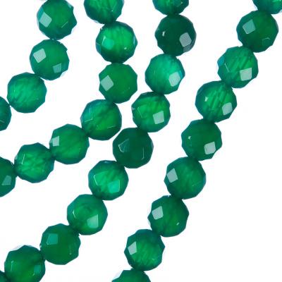 Agata Verde - Sfera sfaccettata da 8mm